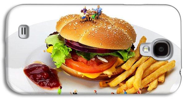 Healthy Life Versus Foodie Life Miniature Art Galaxy S4 Case by Paul Ge