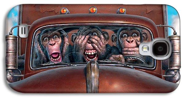 Hear No Evil See No Evil Speak No Evil Galaxy S4 Case by Mark Fredrickson