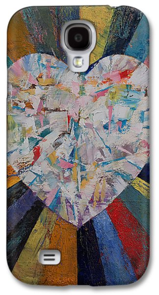 Sun Rays Paintings Galaxy S4 Cases - Heart Galaxy S4 Case by Michael Creese