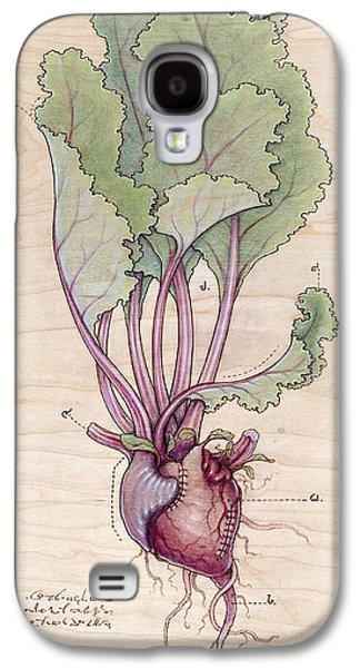 Food And Beverage Pyrography Galaxy S4 Cases - Heart Beet Galaxy S4 Case by Fay Helfer