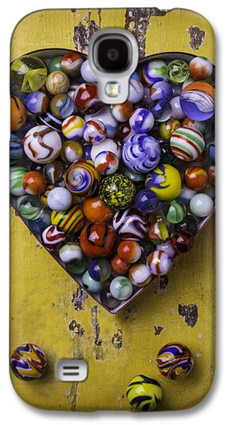 Marble Galaxy S4 Cases - Heart Box Full Of Marbles Galaxy S4 Case by Garry Gay