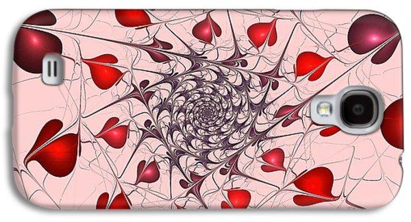Passion Galaxy S4 Cases - Heart Catcher Galaxy S4 Case by Anastasiya Malakhova