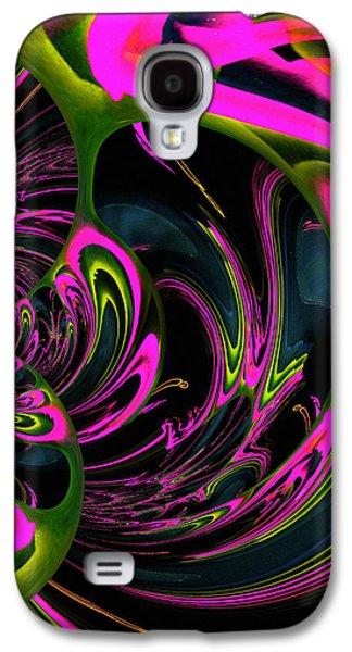 Healing Posters Galaxy S4 Cases - Heart Chakra Galaxy S4 Case by Absinthe Art By Michelle LeAnn Scott