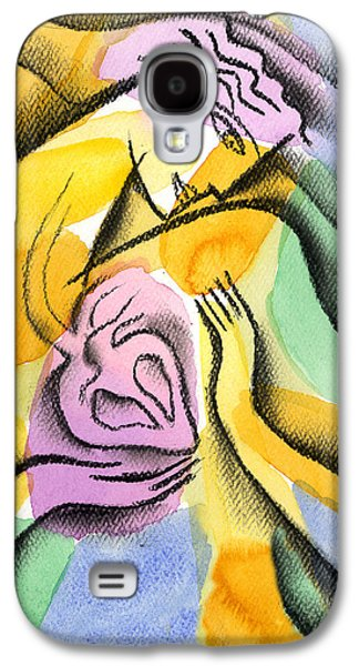 Disorder Paintings Galaxy S4 Cases - Heart Galaxy S4 Case by Leon Zernitsky