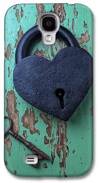 Recently Sold -  - Concept Photographs Galaxy S4 Cases - Heart Lock and Key Galaxy S4 Case by Garry Gay