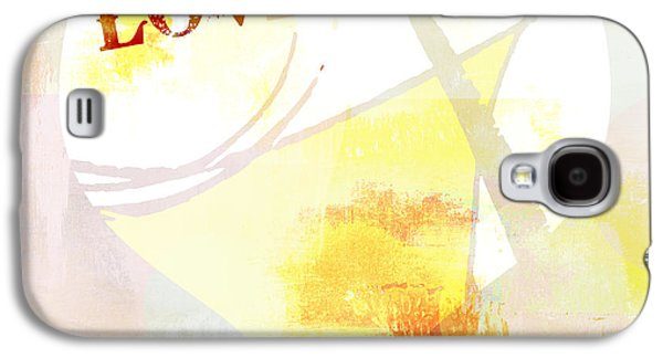 Youthful Galaxy S4 Cases - Heart Love Typography Collage Galaxy S4 Case by Anahi DeCanio - ArtyZen Studios