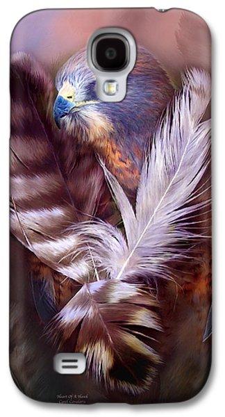 Heart Of A Hawk Galaxy S4 Case by Carol Cavalaris