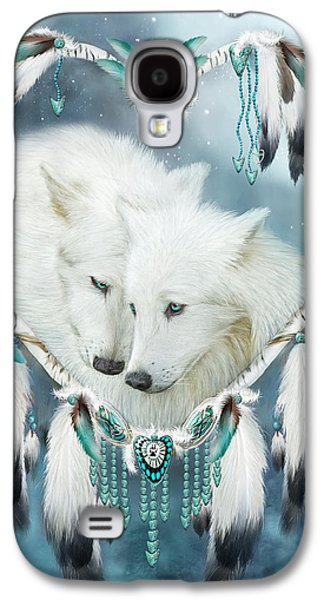 American Mixed Media Galaxy S4 Cases - Heart Of A Wolf Galaxy S4 Case by Carol Cavalaris