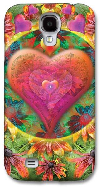 Alixandra Mullins Galaxy S4 Cases - Heart of Flowers Galaxy S4 Case by Alixandra Mullins