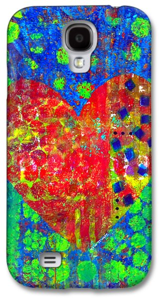 Emotion Mixed Media Galaxy S4 Cases - Heart of Hearts series - Cheers Galaxy S4 Case by Moon Stumpp