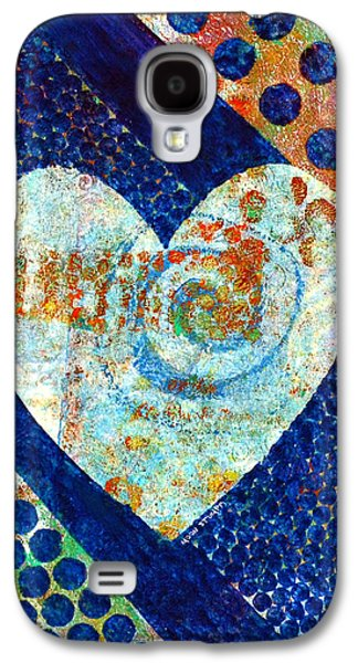 Emotion Mixed Media Galaxy S4 Cases - Heart of Hearts series - Elated Galaxy S4 Case by Moon Stumpp