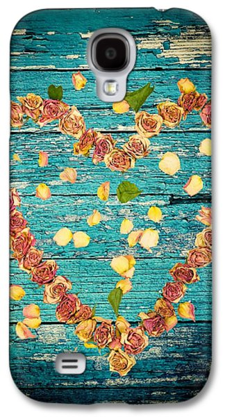 Divorce Galaxy S4 Cases - Heart of roses-1 Galaxy S4 Case by Rudy Umans