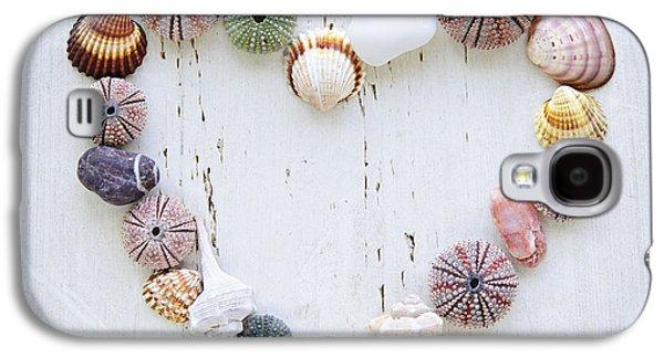 Heart Of Seashells And Rocks Galaxy S4 Case by Elena Elisseeva