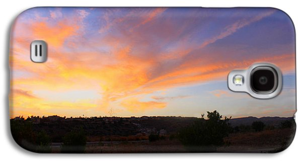 Amazing Sunset Galaxy S4 Cases - Heart Sunset Galaxy S4 Case by Augusta Stylianou