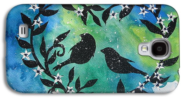 Catherine White Mixed Media Galaxy S4 Cases - Heart Tree Galaxy S4 Case by Cathy Jacobs