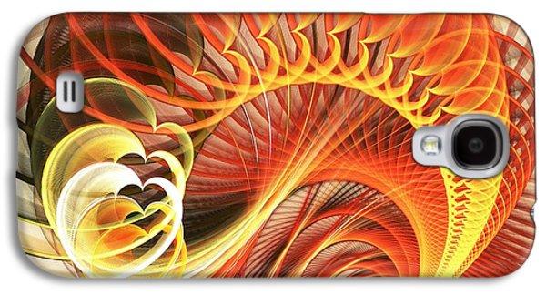 Light Galaxy S4 Cases - Heart Wave Galaxy S4 Case by Anastasiya Malakhova
