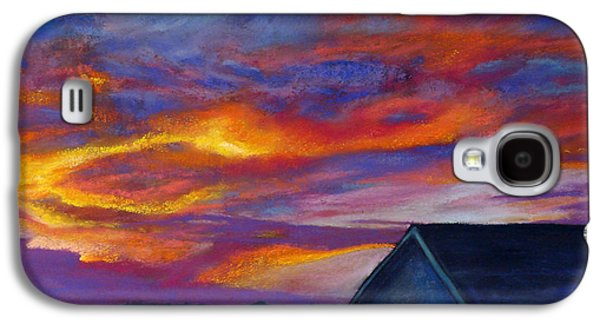 Landscape Acrylic Prints Pastels Galaxy S4 Cases - Heartland Galaxy S4 Case by Abbie Groves