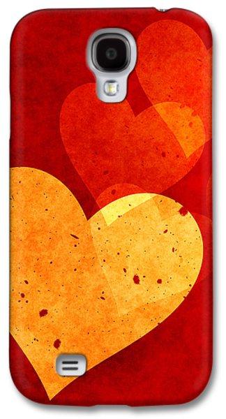 Home Decor Galaxy S4 Cases - Hearts Decor Galaxy S4 Case by Home Decor