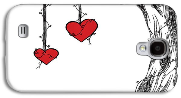 Abstract Digital Mixed Media Galaxy S4 Cases - Hearts for Hearts 22 Galaxy S4 Case by Melissa Smith