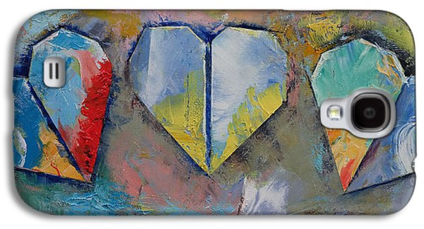 Torn Galaxy S4 Cases - Hearts Galaxy S4 Case by Michael Creese