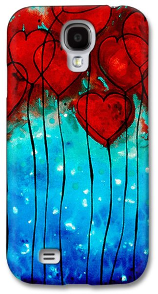 Hearts On Fire - Romantic Art By Sharon Cummings Galaxy S4 Case by Sharon Cummings