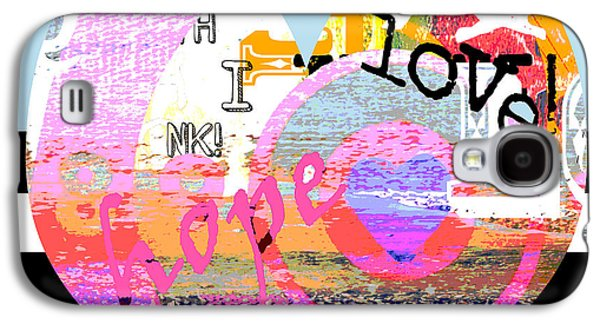 Surtex Licensing Galaxy S4 Cases - Colorful Bohemian Heart on BW Stripes Galaxy S4 Case by Anahi DeCanio - ArtyZen Studios