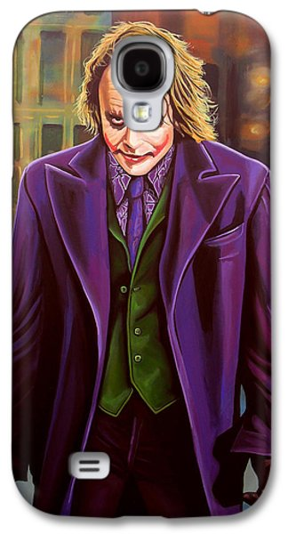 Character Portraits Paintings Galaxy S4 Cases - Heath Ledger as the Joker Galaxy S4 Case by Paul  Meijering