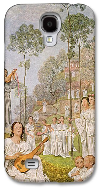 Lute Paintings Galaxy S4 Cases - Heaven Galaxy S4 Case by Hans Thoma