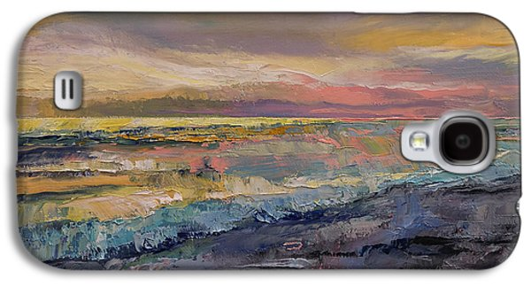 Sunset Abstract Galaxy S4 Cases - Heaven Galaxy S4 Case by Michael Creese