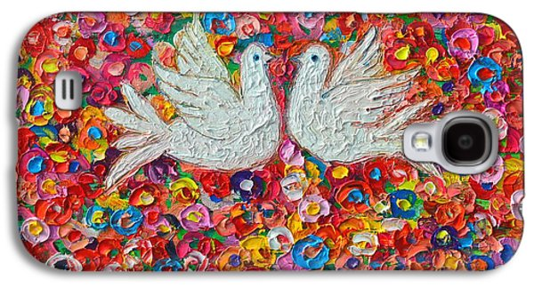 Heavenly Love - Gentle White Doves Galaxy S4 Case by Ana Maria Edulescu