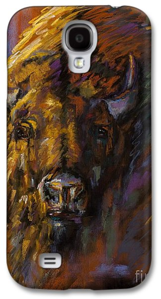 Bison Pastels Galaxy S4 Cases - Heavy Galaxy S4 Case by Frances Marino