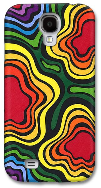 Colorful Abstract Drawings Galaxy S4 Cases - Heavy Rain Galaxy S4 Case by Mandy Shupp