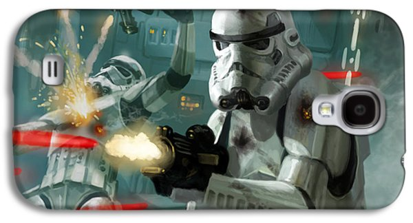 Storm Digital Art Galaxy S4 Cases - Heavy Storm Trooper - Star Wars the Card Game Galaxy S4 Case by Ryan Barger