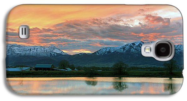 Evening Scenes Photographs Galaxy S4 Cases - Heber Valley Sunset Galaxy S4 Case by Johnny Adolphson