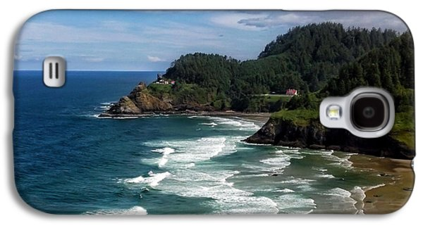 Beach Landscape Galaxy S4 Cases - Heceta Head Galaxy S4 Case by Darren  White