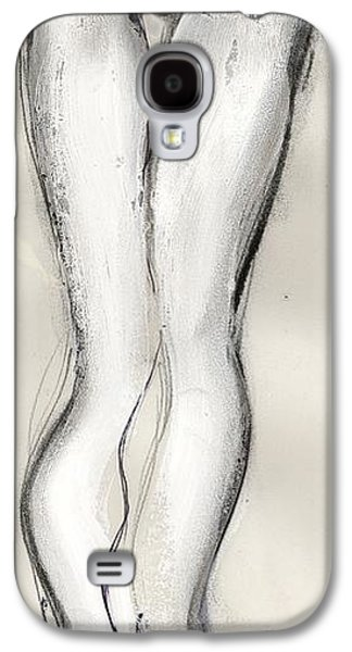 Nudes Mixed Media Galaxy S4 Cases - Heels - nude female Galaxy S4 Case by Carolyn Weltman