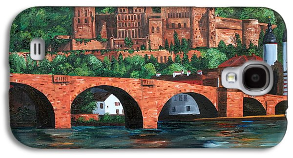 Knights Castle Paintings Galaxy S4 Cases - Heidelberg Castle Galaxy S4 Case by Cevin Cox