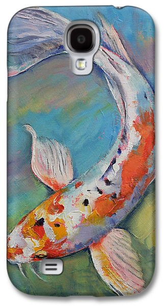 Butterfly Koi Galaxy S4 Cases - Heisei Nishiki Koi Galaxy S4 Case by Michael Creese