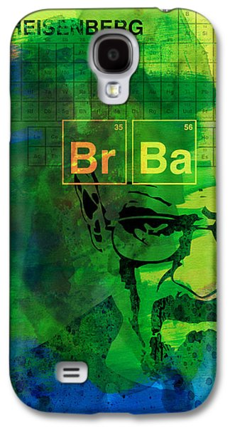 Tv Galaxy S4 Cases - Heisenberg Watercolor Galaxy S4 Case by Naxart Studio