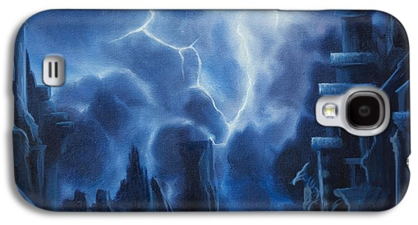 Thunder Paintings Galaxy S4 Cases - Heisenburgs Castle Galaxy S4 Case by James Christopher Hill