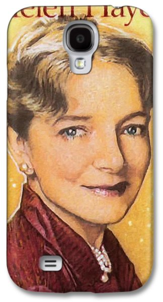 First Lady Paintings Galaxy S4 Cases - Helen Hayes Galaxy S4 Case by Lanjee Chee