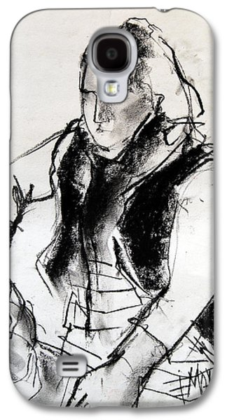 Chair Drawings Galaxy S4 Cases - Helene #3 - figure series Galaxy S4 Case by Mona Edulesco