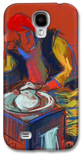 Chair Pastels Galaxy S4 Cases - Helene #4 - figure series Galaxy S4 Case by Mona Edulesco