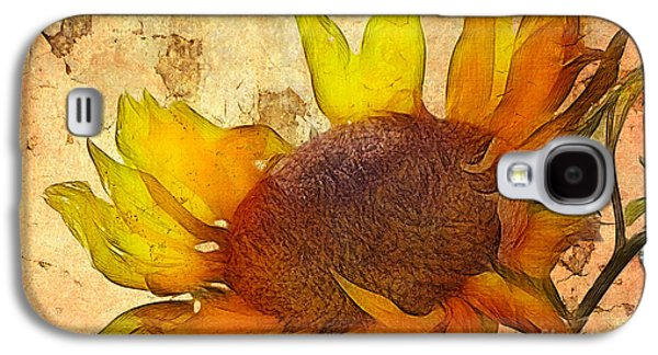 Floral Digital Art Galaxy S4 Cases - Helianthus Galaxy S4 Case by John Edwards