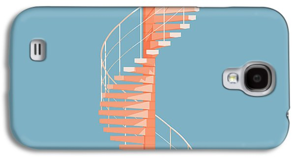 Modern Digital Art Galaxy S4 Cases - Helical Stairs Galaxy S4 Case by Peter Cassidy