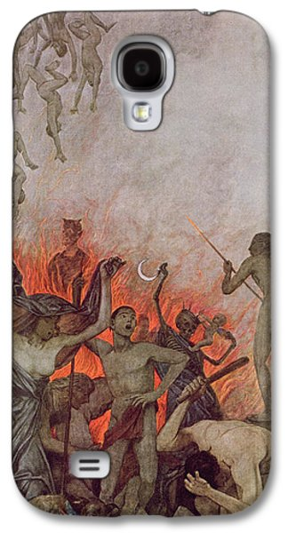 Punishment Galaxy S4 Cases - Hell Galaxy S4 Case by Hans Thoma