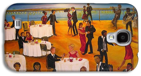 Dance Floor Paintings Galaxy S4 Cases - Hello Galaxy S4 Case by Barbara Hayes