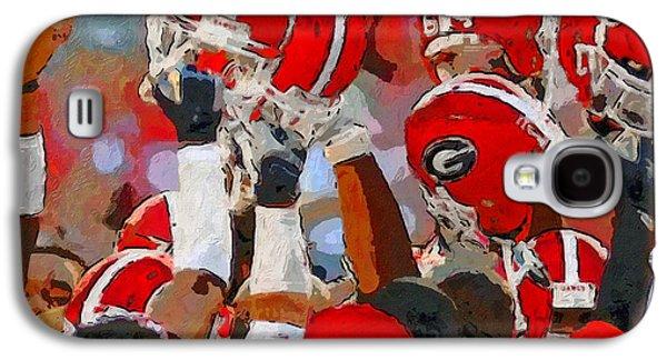 Helmets Of Georgia Galaxy S4 Case by John Farr