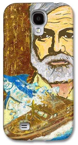 Original Art Pastels Galaxy S4 Cases - Hemingway and the Pilar Galaxy S4 Case by William Depaula