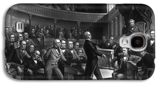 War Is Hell Store Mixed Media Galaxy S4 Cases - Henry Clay Speaking In The Senate Galaxy S4 Case by War Is Hell Store